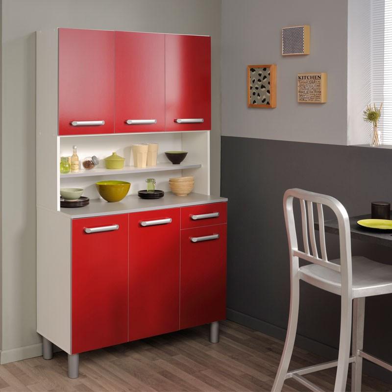 Buffet de cuisine rangement rouge - Univers Cuisine : Tousmesmeubles