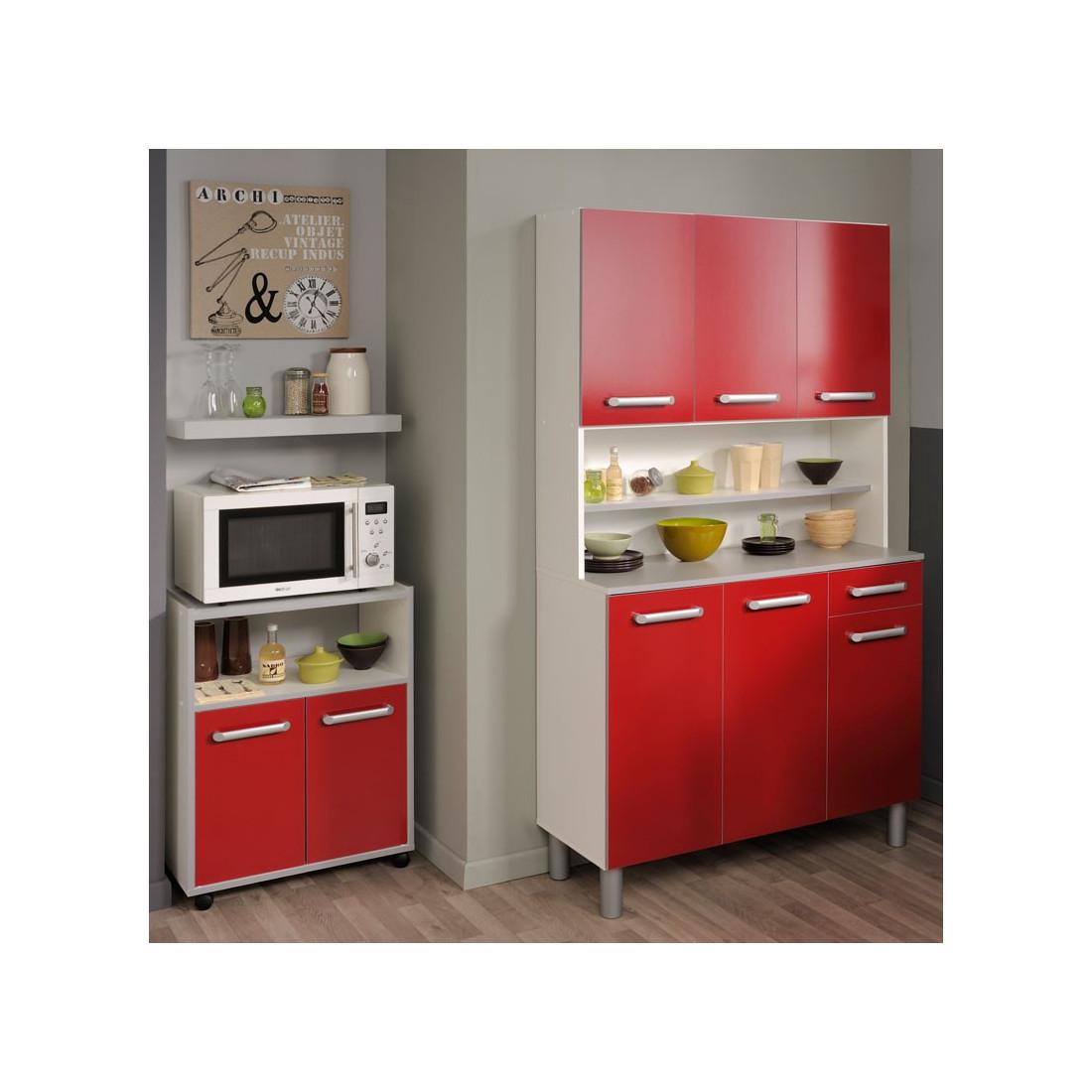 top buffet de cuisine rangement rouge univers cuisine with buffet cuisine en bois. Black Bedroom Furniture Sets. Home Design Ideas
