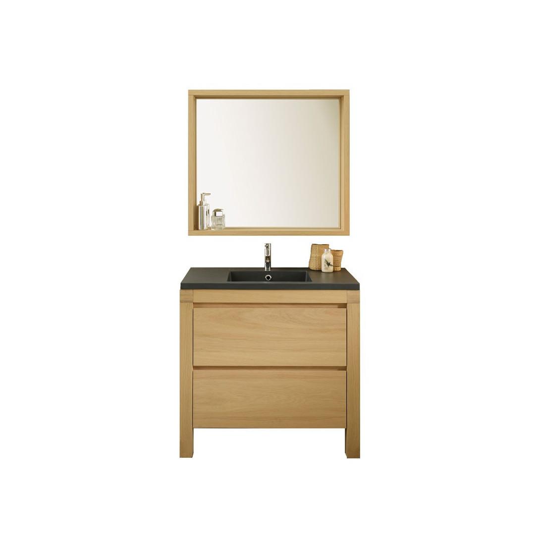 Meuble avec vasque miroir artemis univers de la salle - Meuble salle de bain avec miroir ...