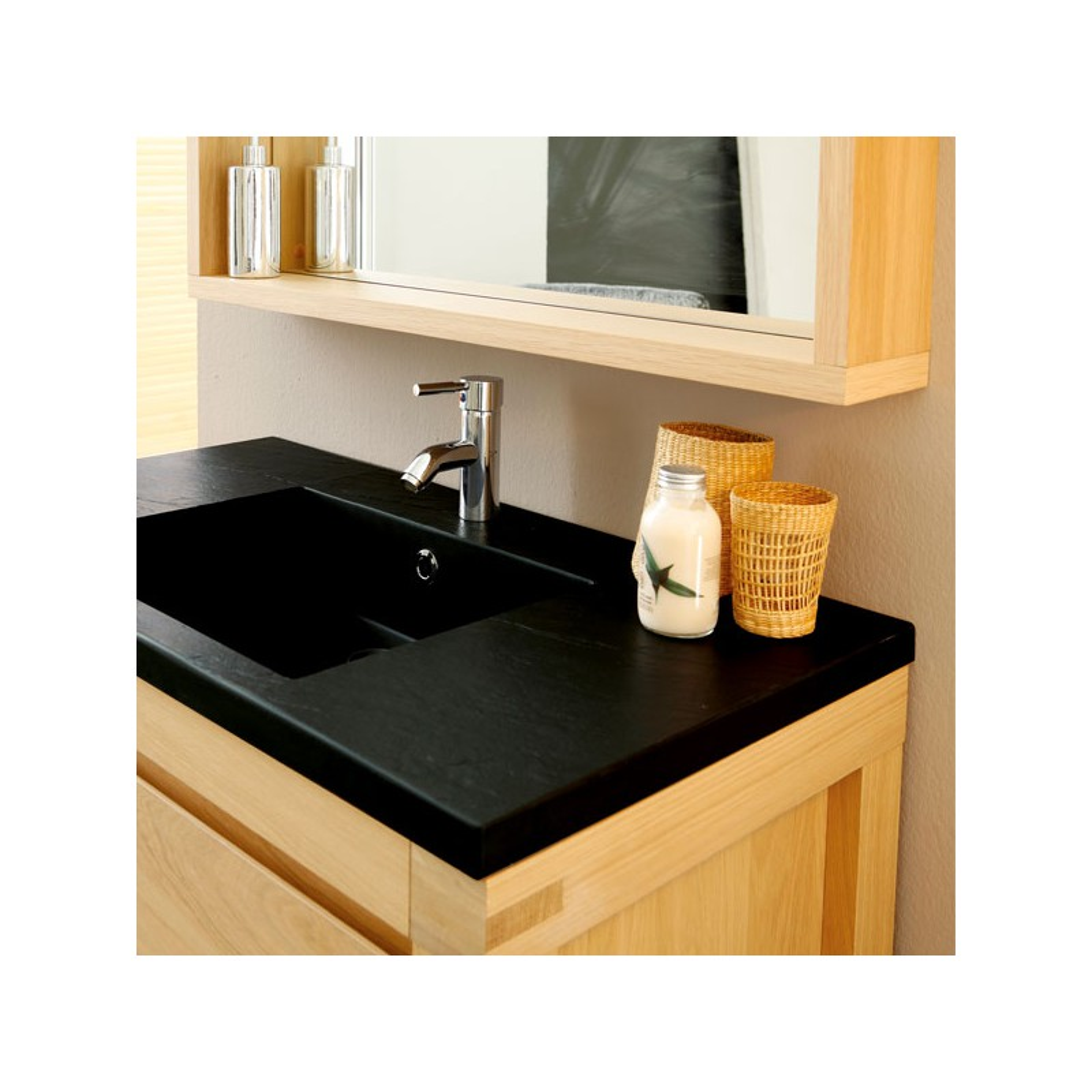 Ensemble salle de bain bois meuble de salle bain une for Meuble artemis