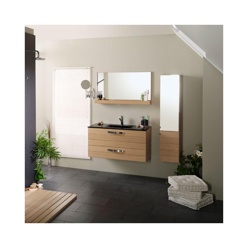 Meuble+ vasque + Miroir+colonne HERA - Univers de la salle de bains