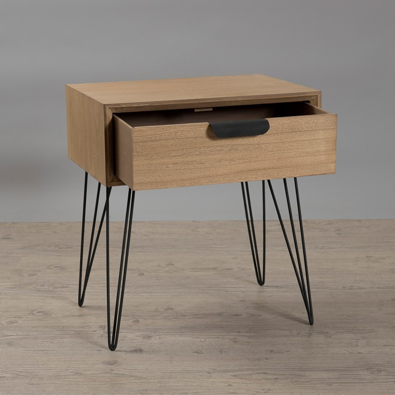 Table de chevet 1 tiroir spingle univers de la chambre - Table de chevet moderne ...