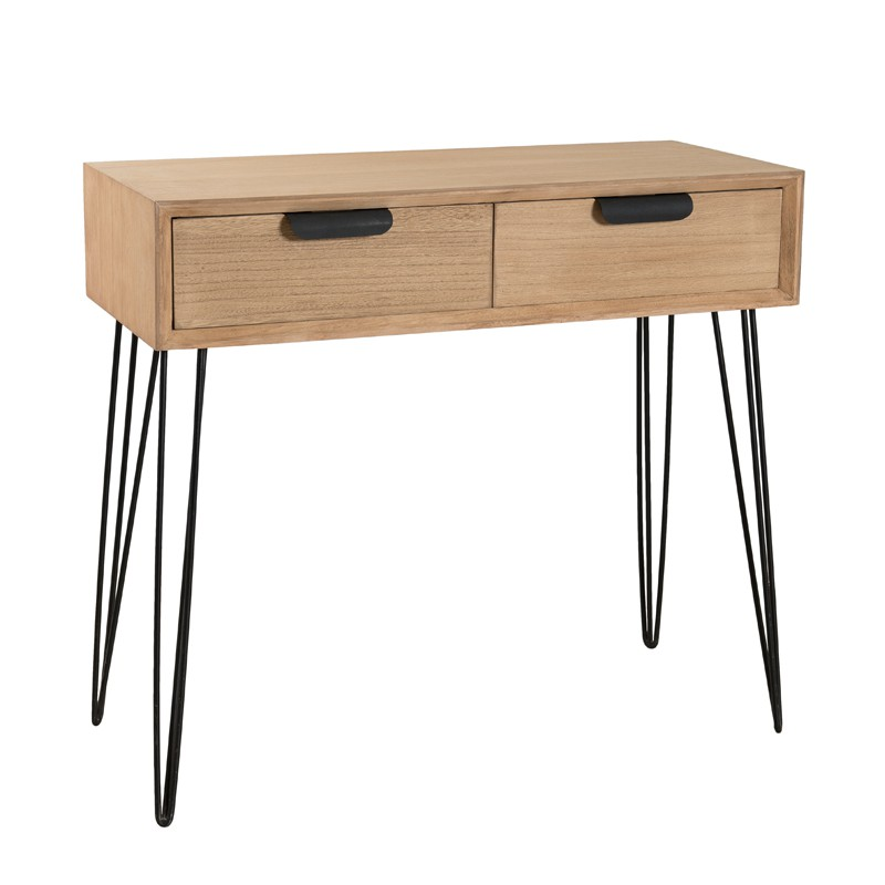 console 2 tiroirs spingle univers des petits meubles et salon. Black Bedroom Furniture Sets. Home Design Ideas