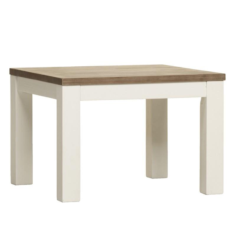 Table d'appoint RIO bois massif blanc laqué - Univers Petits Meubles : Tousmesmeubles