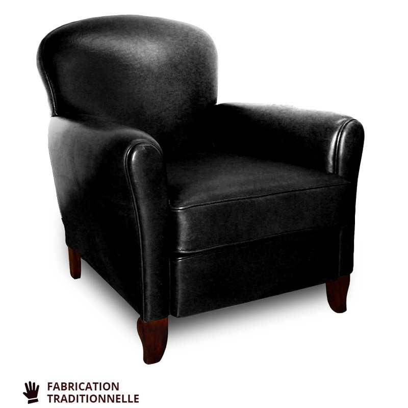 fauteuil club cuir jusqu 60 soldes premi re d marque. Black Bedroom Furniture Sets. Home Design Ideas