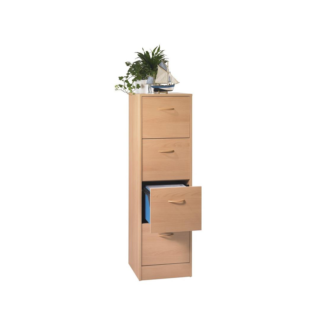 classeur dossiers suspendus 4 tiroirs h tre tirsus. Black Bedroom Furniture Sets. Home Design Ideas