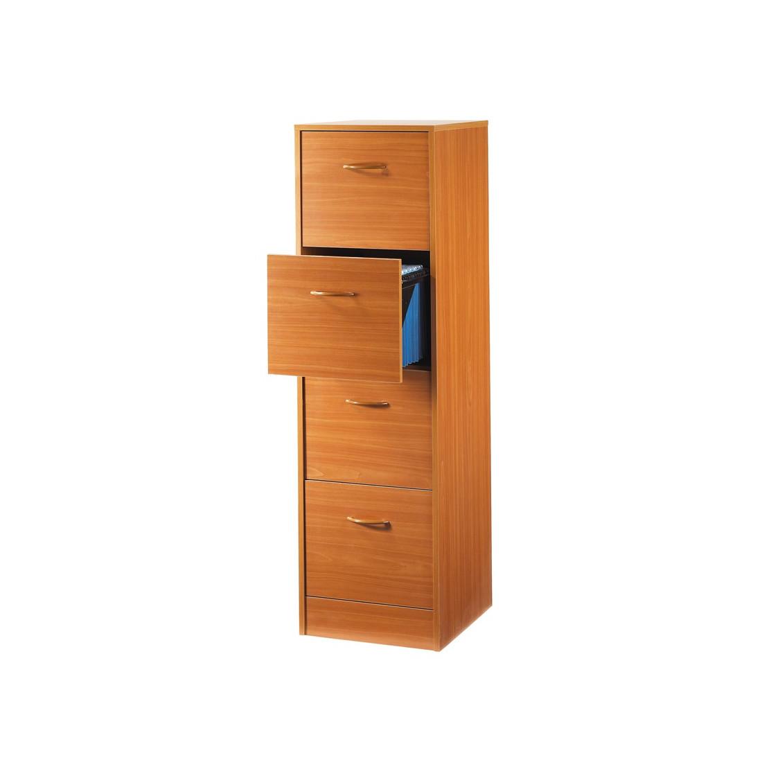 classeur dossiers 4 tiroirs merisier tirsus univers du. Black Bedroom Furniture Sets. Home Design Ideas