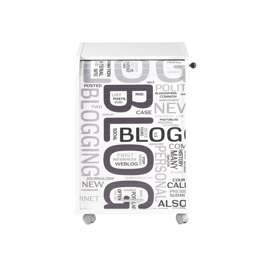 caisson blanc roulettes rideau n 1 taille s carou univers du bureau. Black Bedroom Furniture Sets. Home Design Ideas