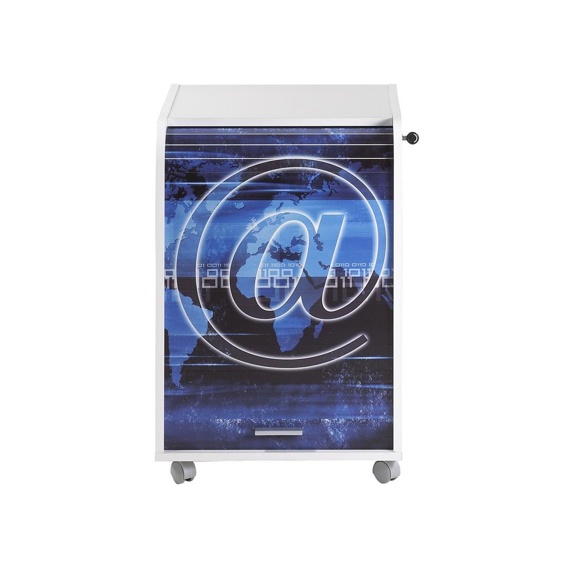 caisson blanc roulettes rideau n 7 taille s carou univers du bureau. Black Bedroom Furniture Sets. Home Design Ideas