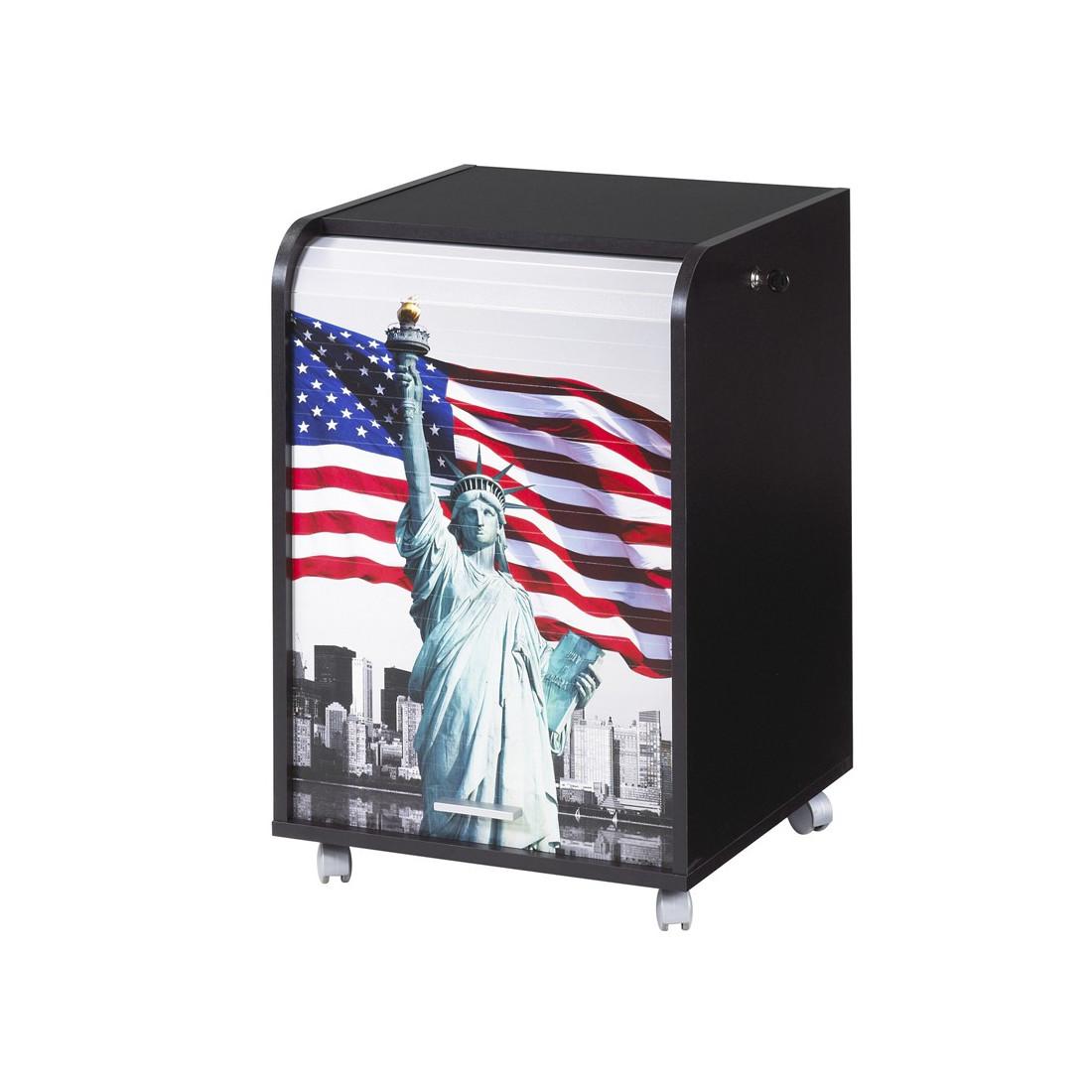 caisson noir roulettes rideau n 4 taille s carou univers du bureau. Black Bedroom Furniture Sets. Home Design Ideas