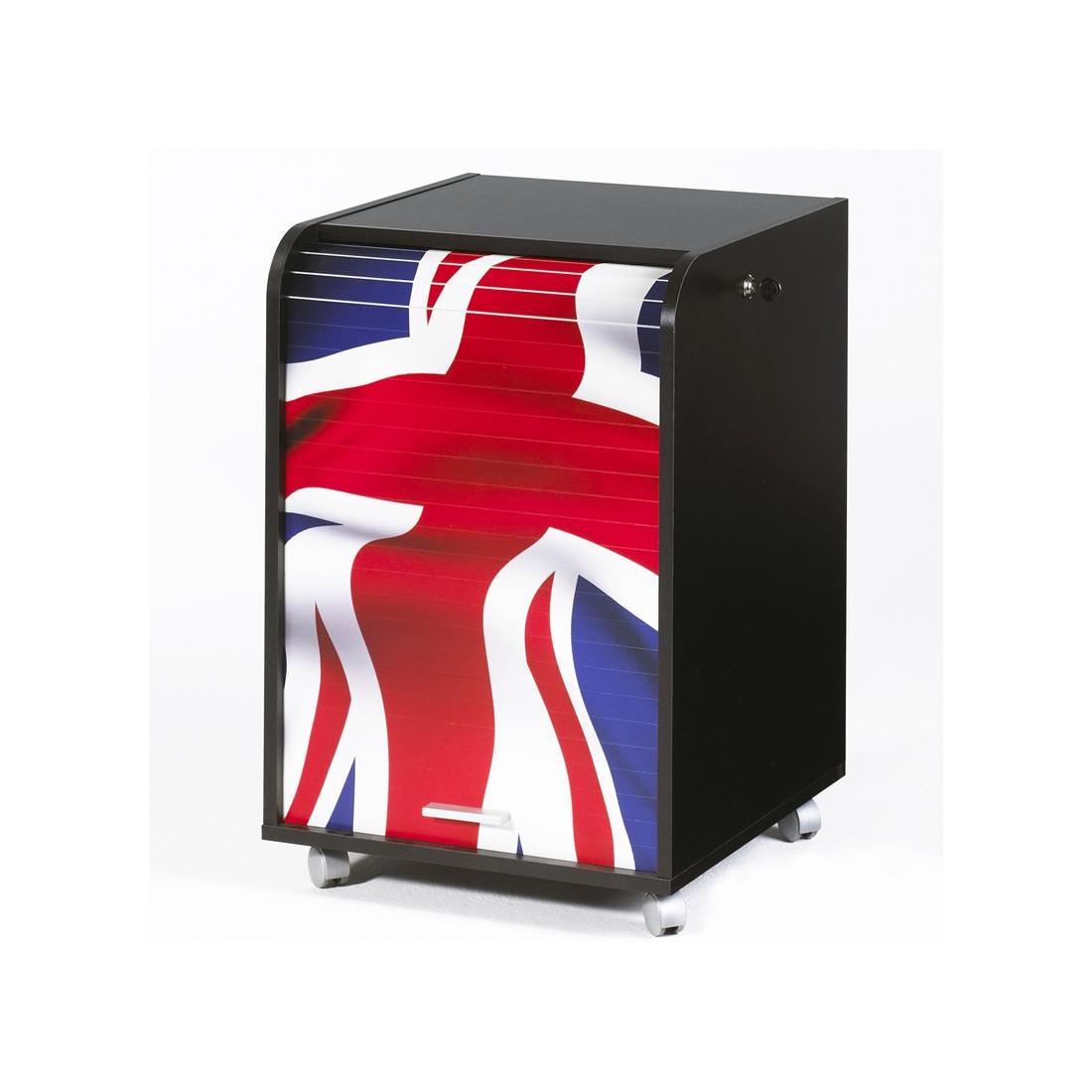 caisson noir roulettes rideau n 5 taille s carou univers du bureau. Black Bedroom Furniture Sets. Home Design Ideas