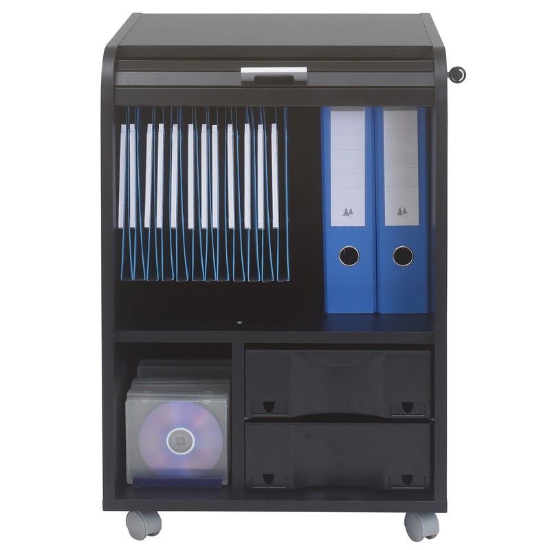 caisson noir roulettes rideau n 7 taille s carou univers du bureau. Black Bedroom Furniture Sets. Home Design Ideas