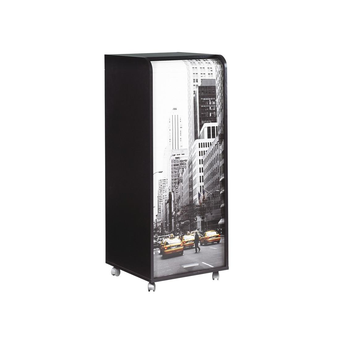 caisson noir m sur roulettes et rideau n 4 carou univers du bureau. Black Bedroom Furniture Sets. Home Design Ideas