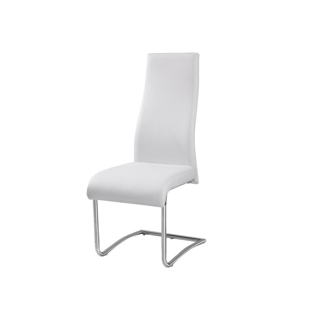 Quatuor de chaises rome univers salle manger for Chaise cuir blanc