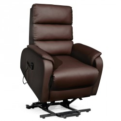 Fauteuil Relax Releveur Simili Cuir Marron - VERSO