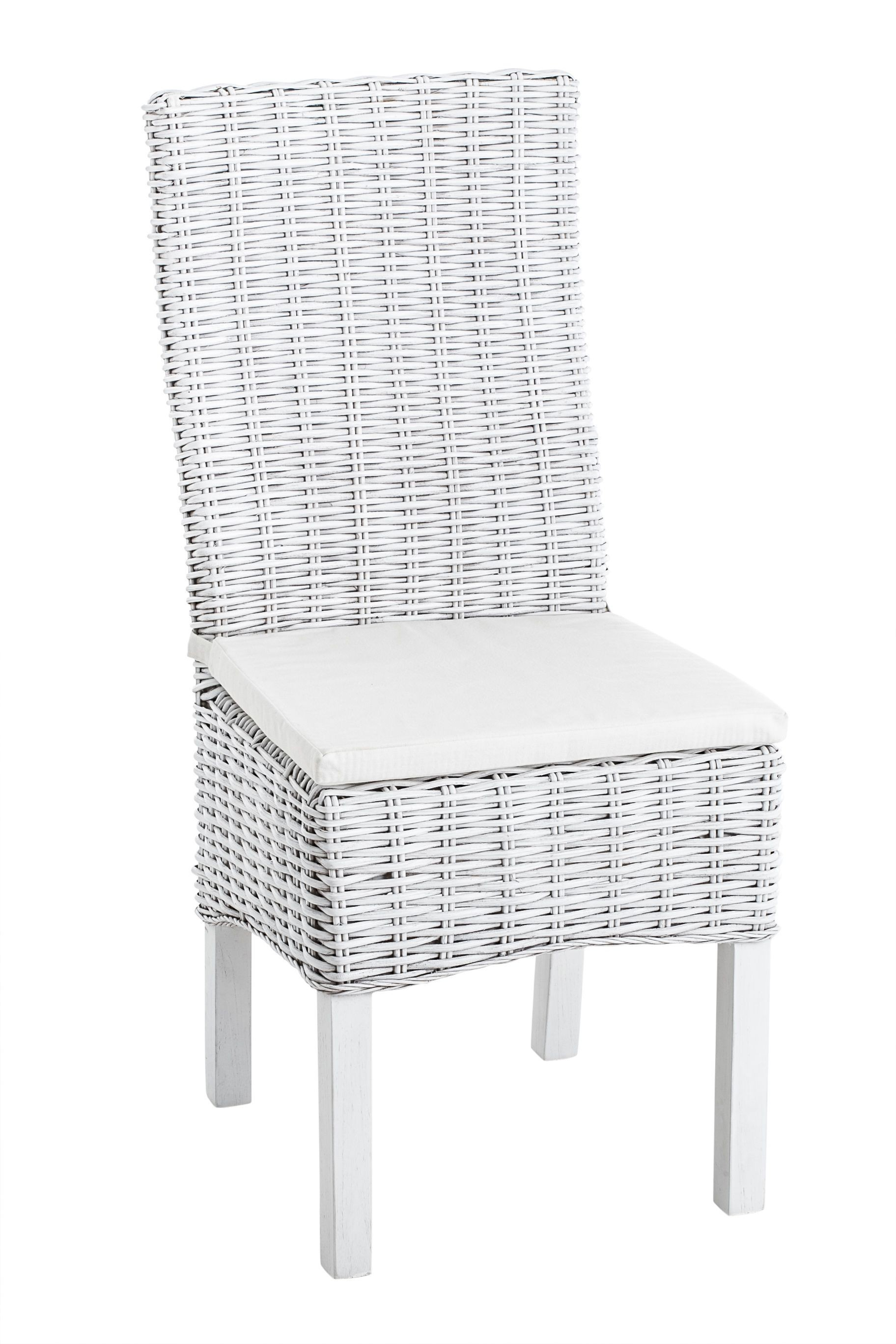 Awesome chaise rotin blanc mastic mary lma pas cher source for Chaise blanche design pas cher