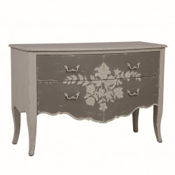 Commode 2 tiroirs et motif pochoir - LORDS