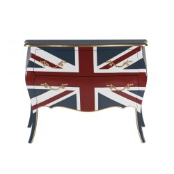 Commode 2 tiroirs Union Jack - PRECIOUS