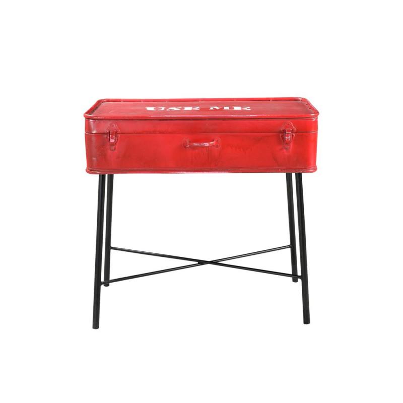 Table sur pieds avec coffre de rangement en métal - TACOTS