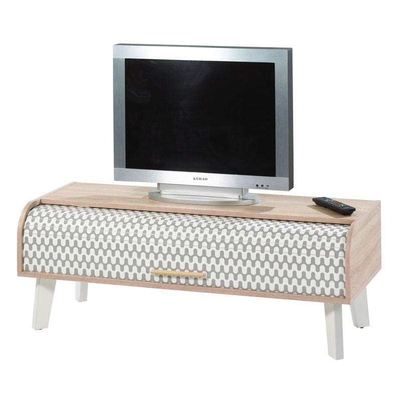 Meuble TV à rideau scandinave ARKOS n°2 - Univers Salon : Tousmesmeubles