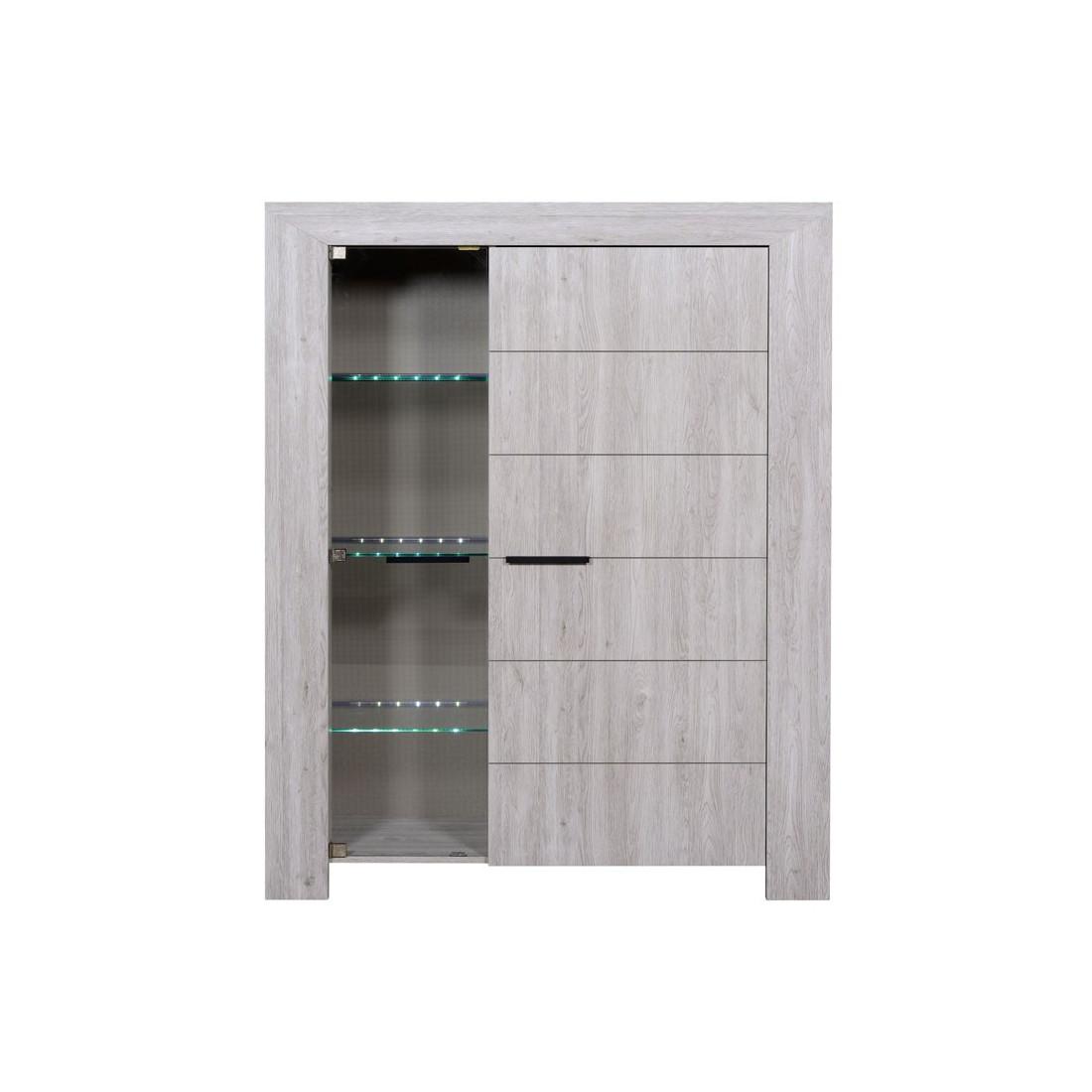 armoire de salon gris clair papeete univers du salon. Black Bedroom Furniture Sets. Home Design Ideas