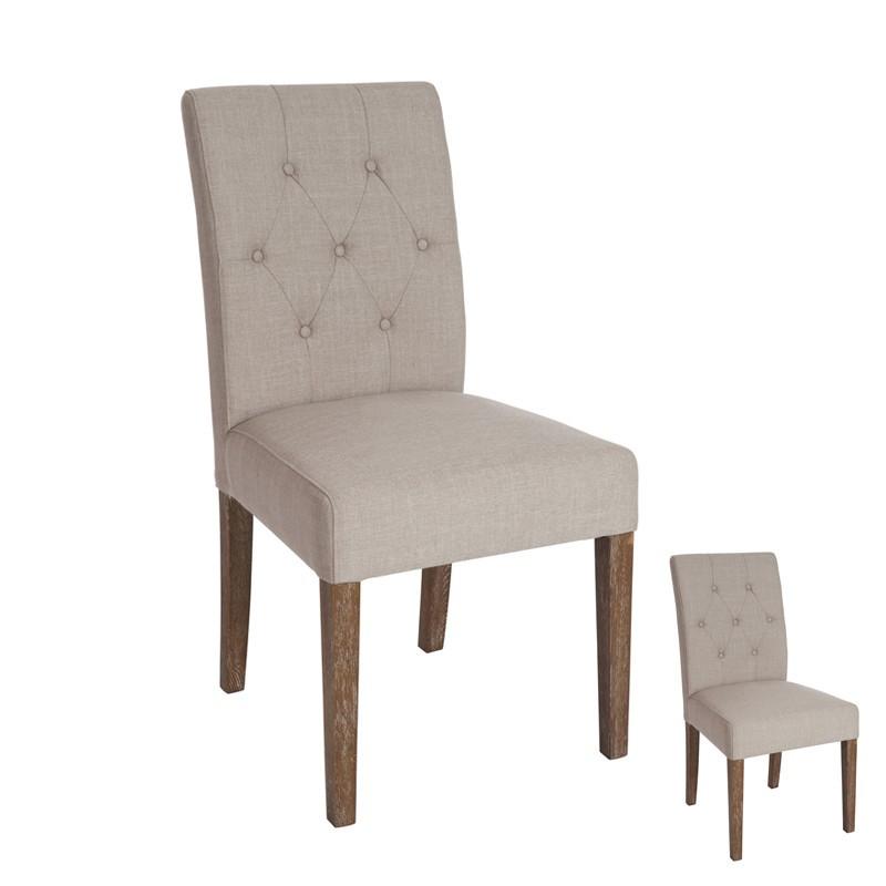 Duo de chaises à dossier capitons - Univers de la Salle à manger et des Assises : Tousmesmeubles