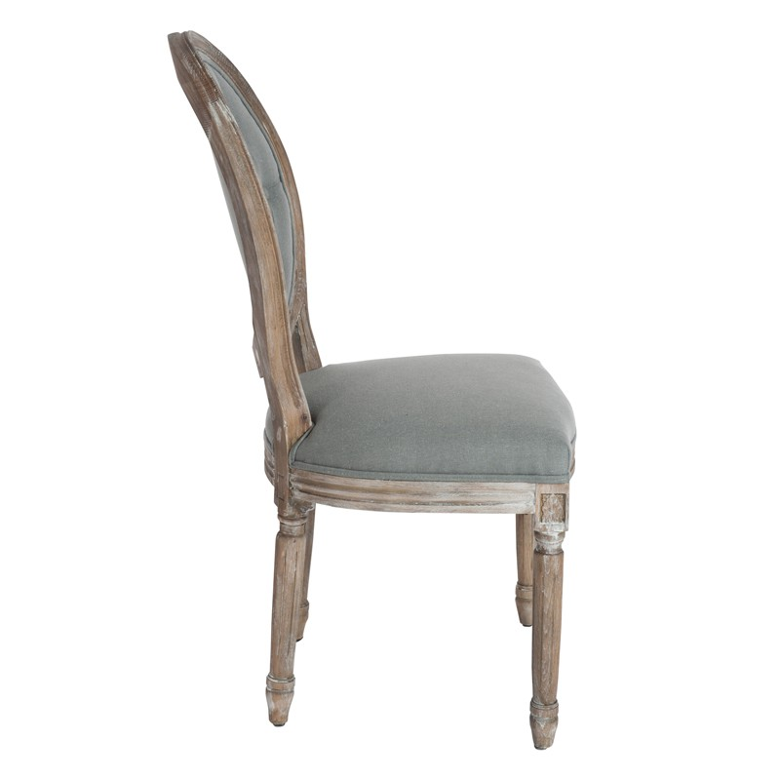 Duo de chaise louis xvi dossier capitonn grezia univers for Chaise salle a manger louis xvi