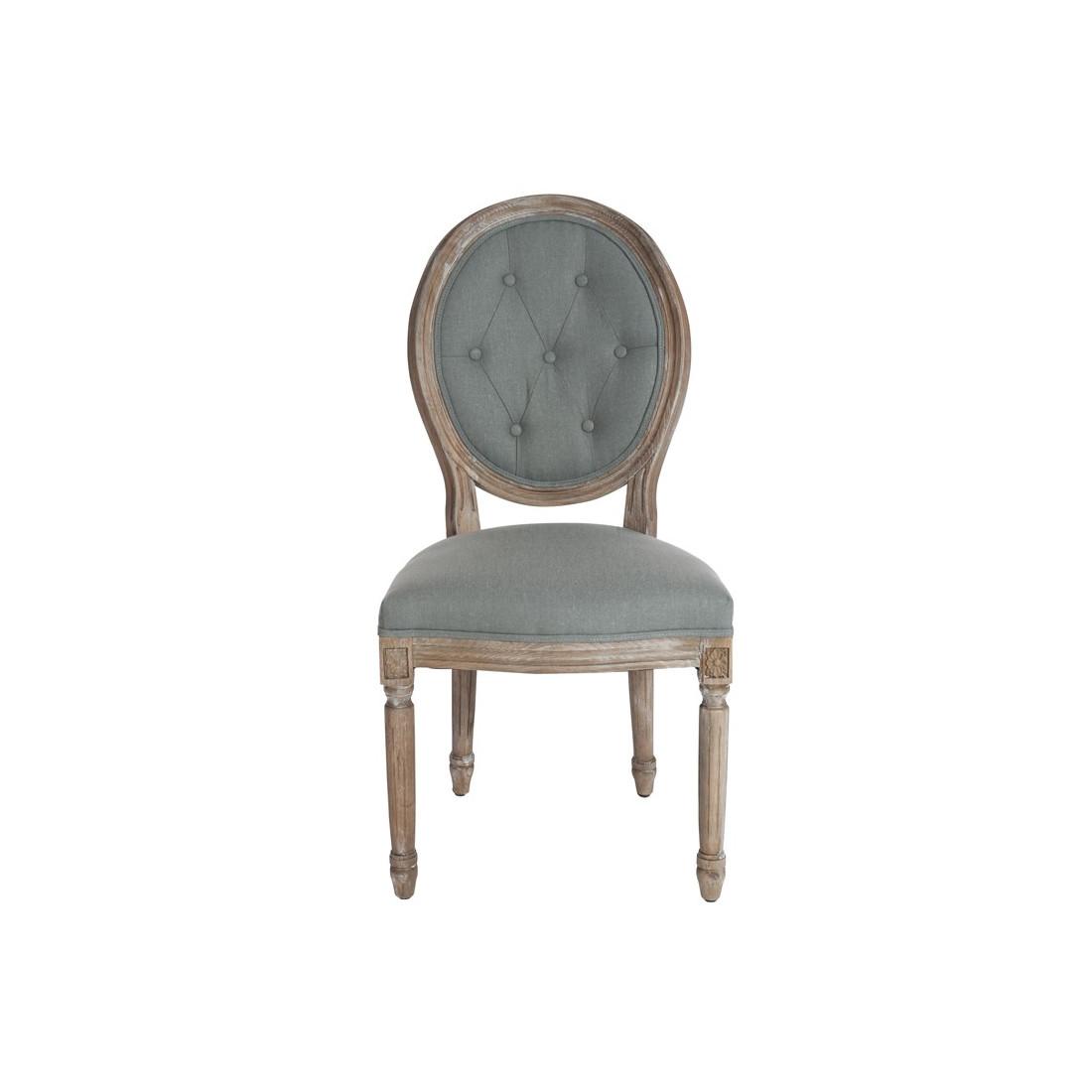 Duo de chaise Louis XVI dossier capitonné GREZIA - Univers des Assises