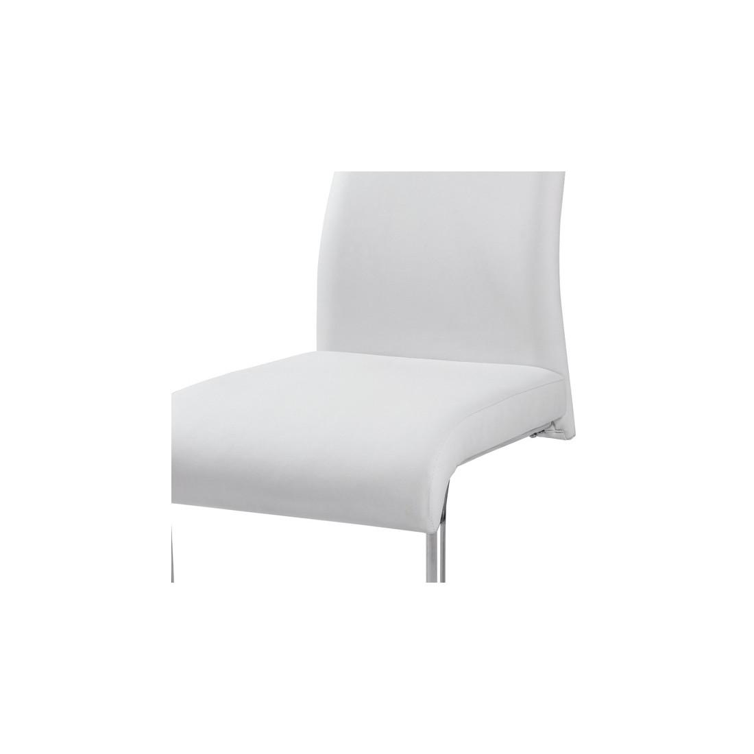 Chaises blanches simili cuir 28 images quatuor de for Chaise salle a manger simili cuir blanc