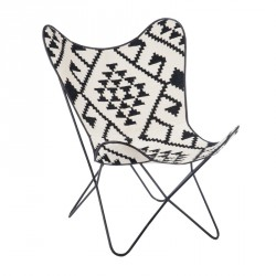 Chaise Lounge Motif graphique piétement épingle - Univers Assises : Tousmesmeubles
