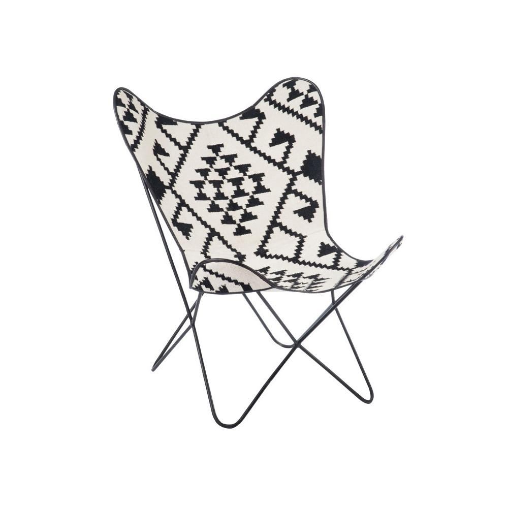 Chaise Lounge Motif graphique piétement épingle - Univers Assises : Tousmesmeubles