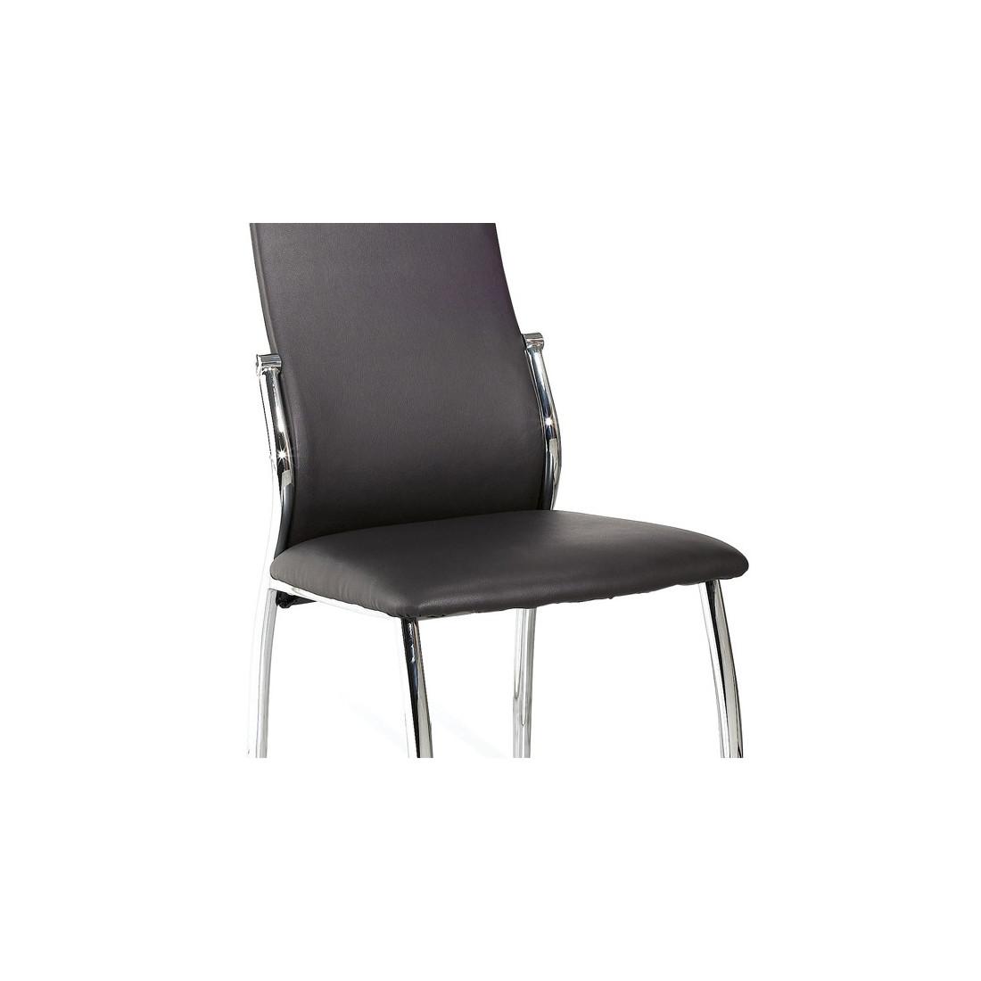 Chaises simili cuir conceptions de maison for Chaise de salle a manger simili cuir
