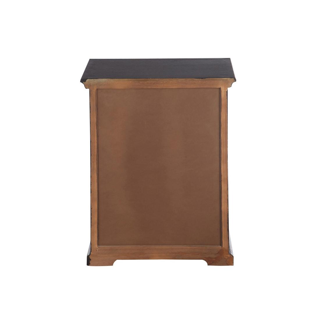 Table de chevet fa ade m tal multimet univers de la chambre - Table de chevet metal ...