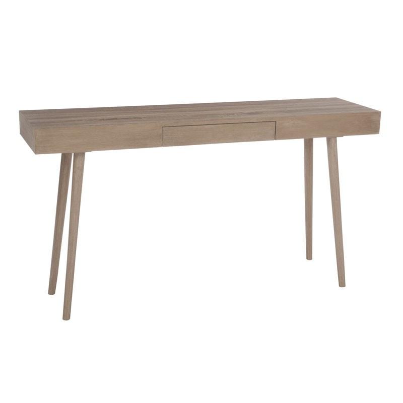 Console 1 tiroir bois naturel - Univers du Salon et des Petits meubles : Tousmesmeubles