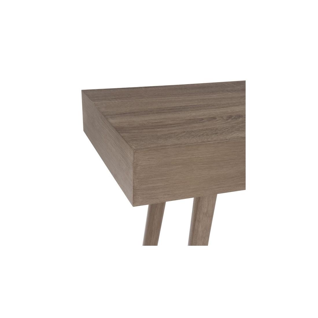 Console 1 tiroir bois naturel enola univers des petits meubles - Console bois naturel ...