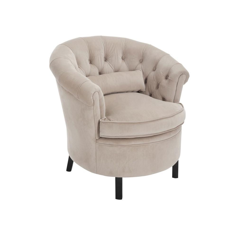 fauteuil tonneau tissu beige mayfair univers du salon et assises. Black Bedroom Furniture Sets. Home Design Ideas