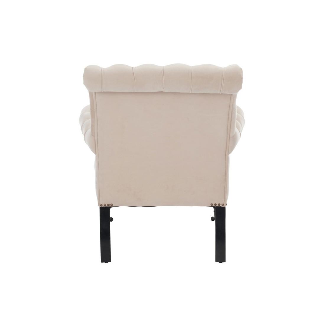 fauteuil capitonn beige avec roulettes mayfair univers. Black Bedroom Furniture Sets. Home Design Ideas