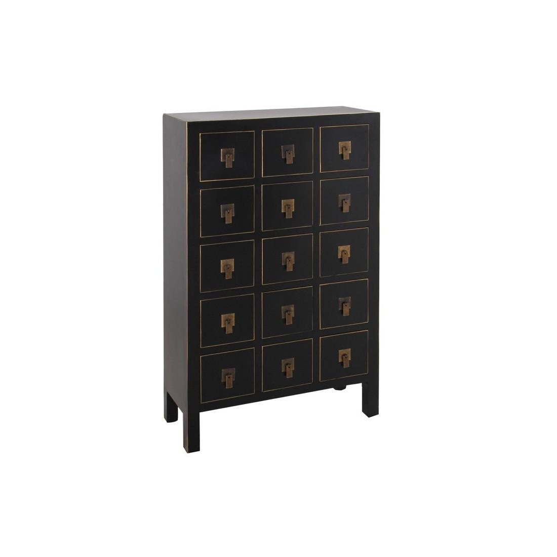 chiffonnier noir meuble chinois pekin univers des petits meubles. Black Bedroom Furniture Sets. Home Design Ideas