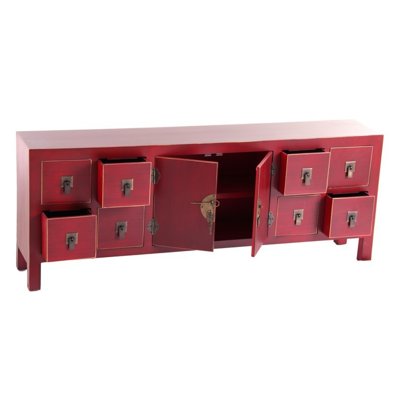dos de canap rouge meuble chinois pekin univers des petits meubles. Black Bedroom Furniture Sets. Home Design Ideas