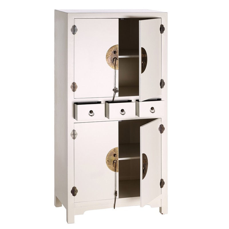 armoire blanche meuble chinois pekin univers de la chambre. Black Bedroom Furniture Sets. Home Design Ideas