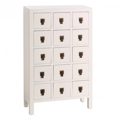 chiffonnier blanc meuble chinois pekin univers des petits meubles. Black Bedroom Furniture Sets. Home Design Ideas