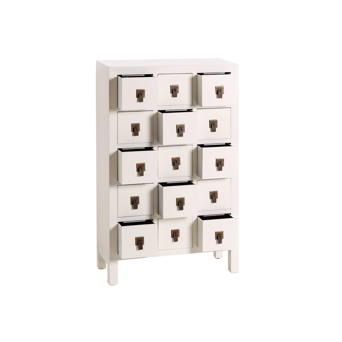 Chiffonnier blanc meuble chinois pekin univers des for Meuble chinois blanc