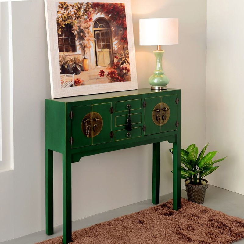 console verte meuble chinois pekin univers des petits meubles. Black Bedroom Furniture Sets. Home Design Ideas