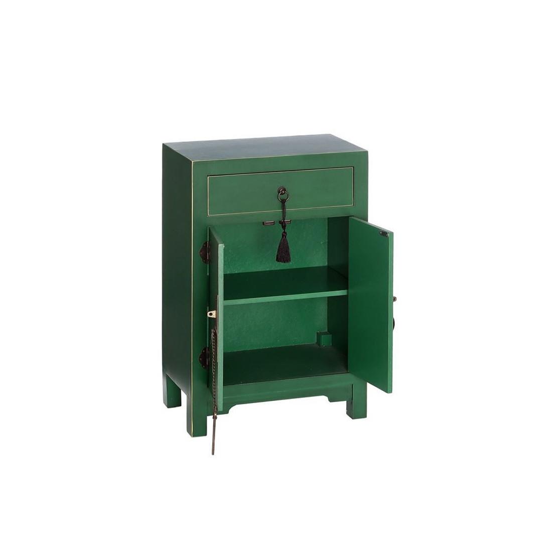Confiturier vert meuble chinois pekin univers de la cuisine for Meuble 2 portes 1 tiroir
