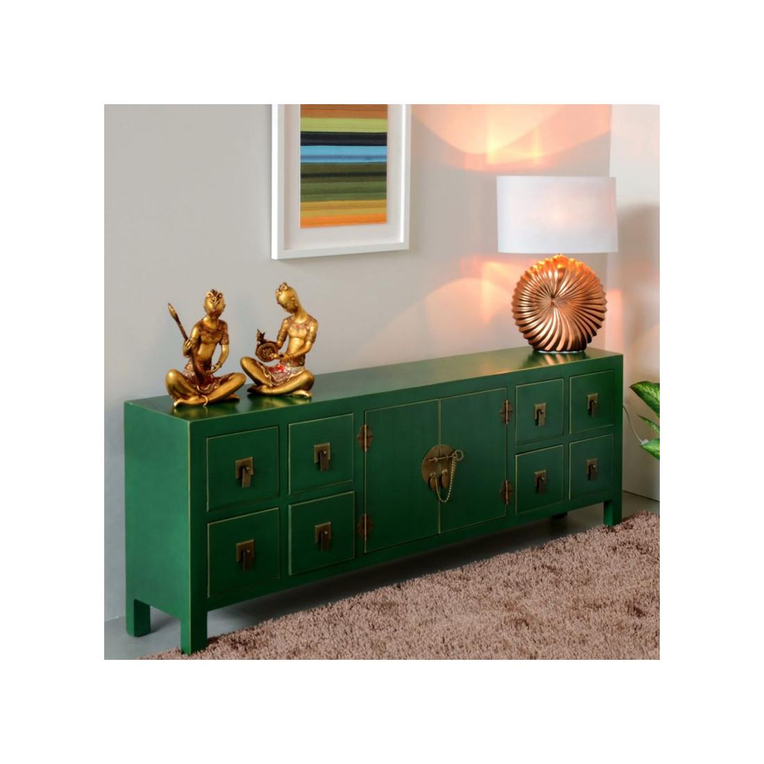 dos de canap vert meuble chinois pekin univers des petits meubles. Black Bedroom Furniture Sets. Home Design Ideas