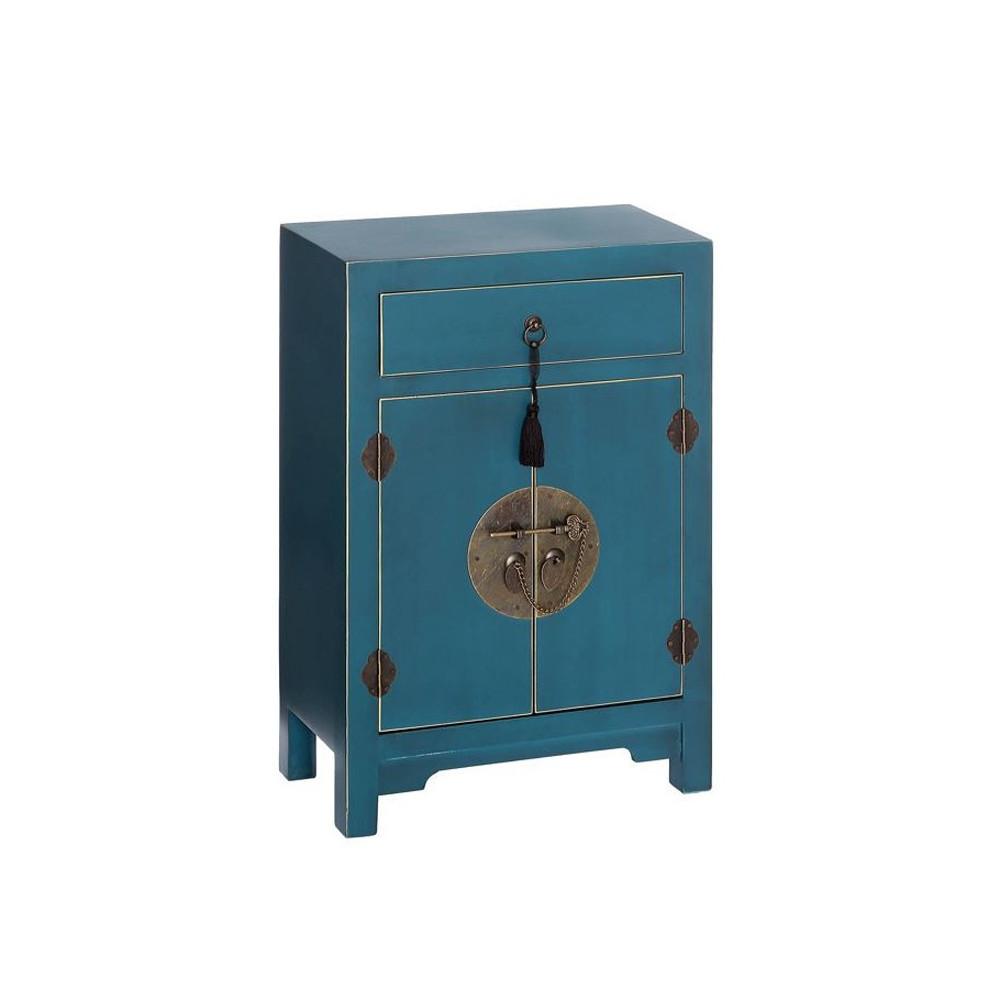 Confiturier Bleu 2 portes, 1 tiroir - PEKIN - Univers de la Salle à manger : Tousmesmeubles