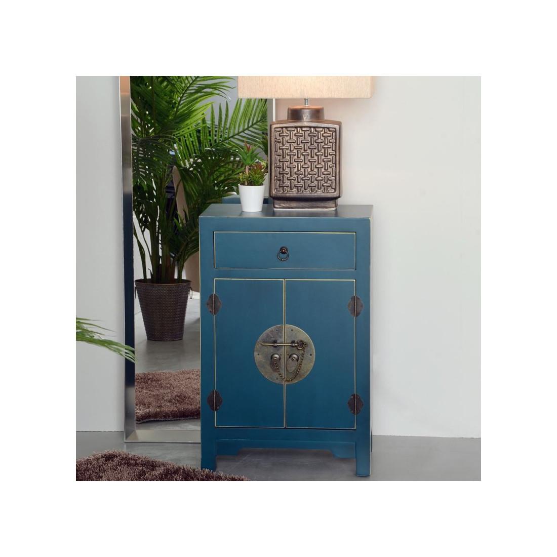 Confiturier bleu meuble chinois pekin univers de la cuisine for Meuble cabinet chinois
