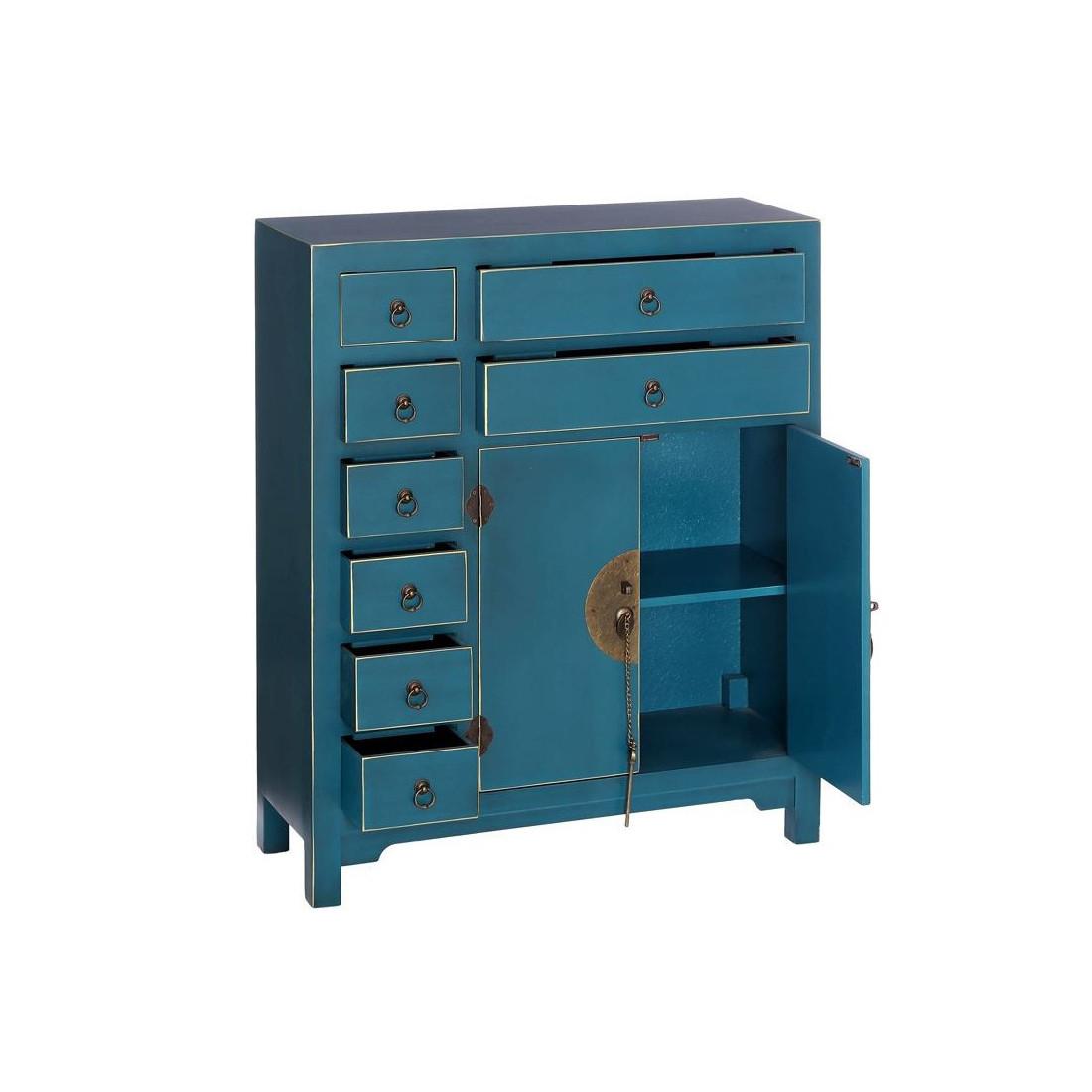 Meubles d 39 entr e bleu meuble chinois pekin univers for Meuble chinois bleu