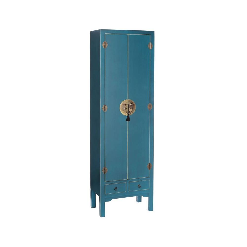 armoire ling re bleue meuble chinois pekin univers de la. Black Bedroom Furniture Sets. Home Design Ideas