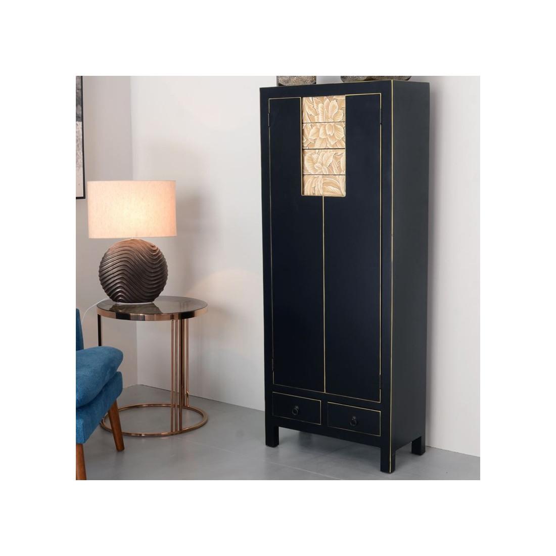 armoire metallique noire excellent meuble de rangement portes blanc avec pieds mtal noir. Black Bedroom Furniture Sets. Home Design Ideas